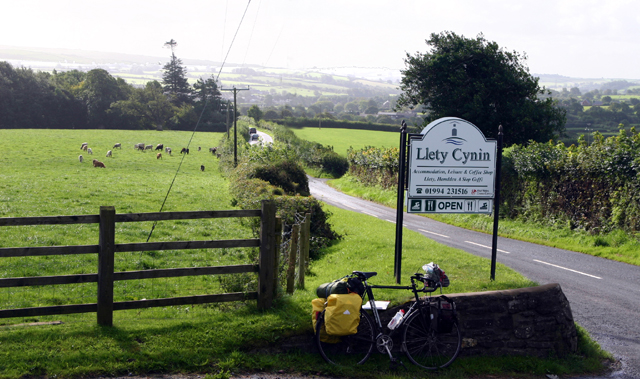 Road entrance to Llety Cynin Leisure Complex, formerly Pen-y-coed Farm
