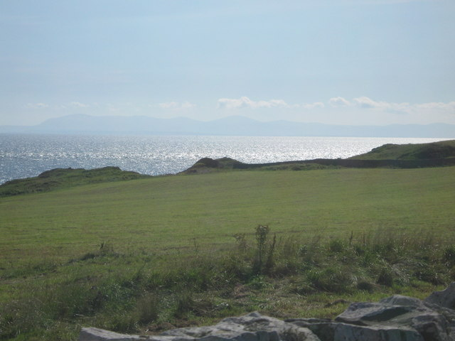 Field next to the track between the Isle of Whithorn and Morrach
