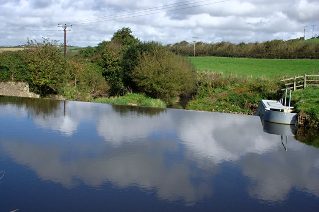 Weir on the Bude Canal