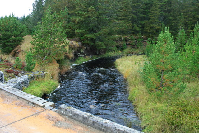 Upstream from the bridge over Feith a Chaoruinn.
