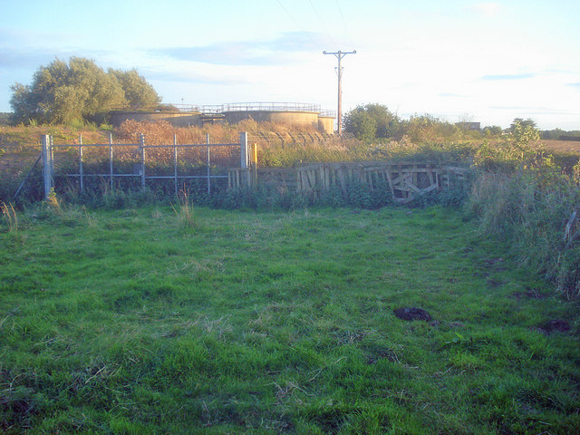 Public footpath near Snarrow's Sewage Treatment Works
