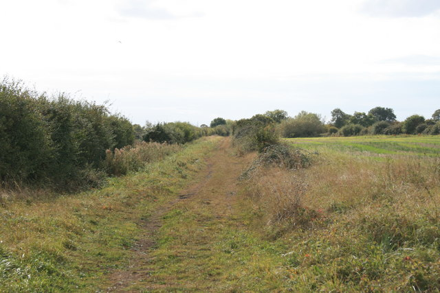 Course of the old Fairford branch line