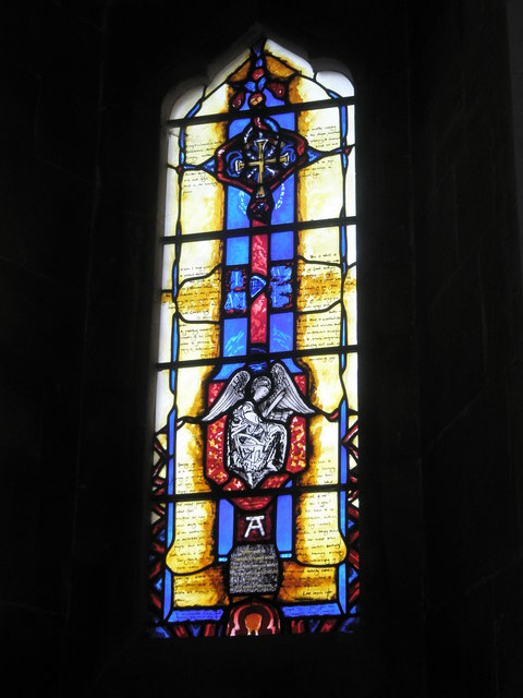 Stained glass window on the north wall at St Bartholomew, Rogate