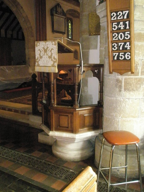 The pulpit at St Bartholomew, Rogate