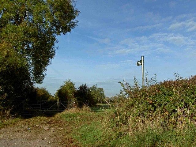Bridleway near Kersall