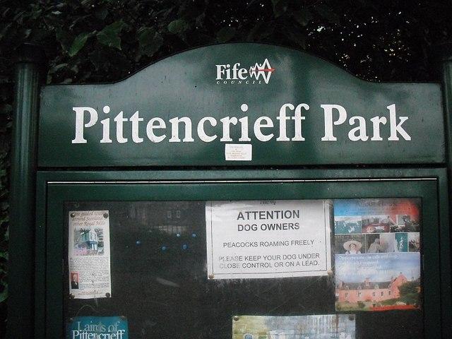 Notice, Pittencrieff Park