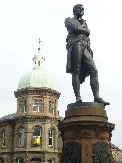 Robert Burns statue, Bernard Street