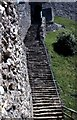 SZ4887 : Steps up to the keep at Carisbrooke Castle by Steve Daniels
