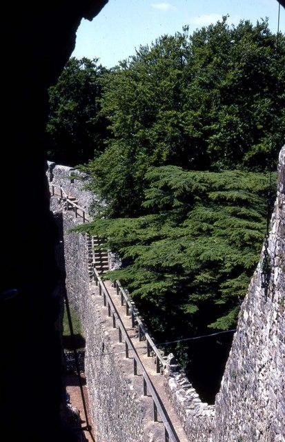 The walls of Carisbrooke Castle