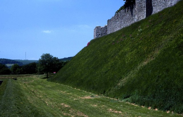 The walls of Carisbrooke Castle