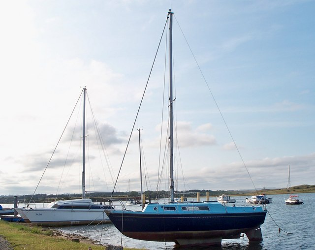 Blue Boat at Amble