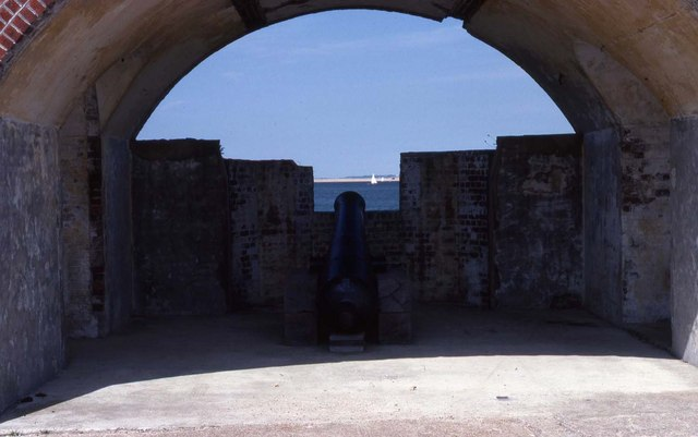 Gun casemate at Fort Victoria