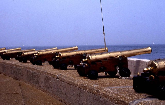 Brass cannons at Cowes
