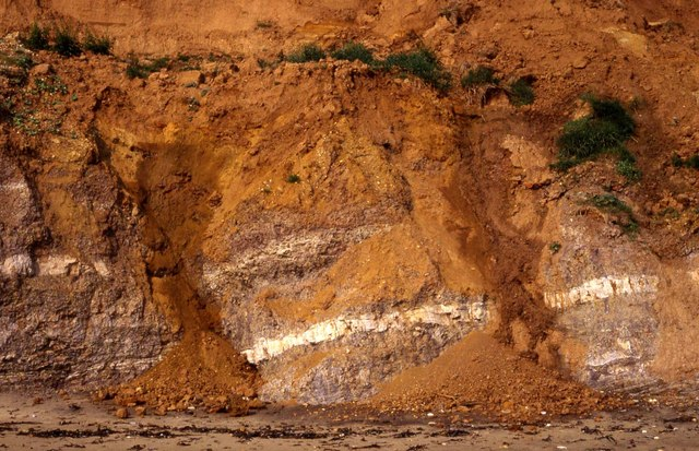 Eroding cliff at Compton Chine