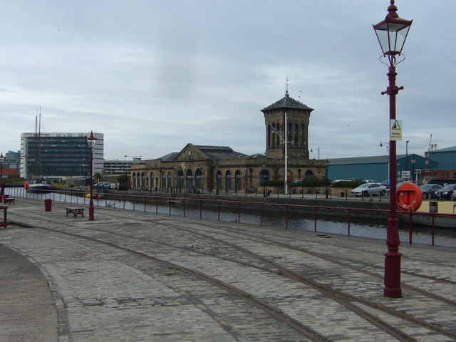 Old gaslamp and rail tracks, Imperial  Dock
