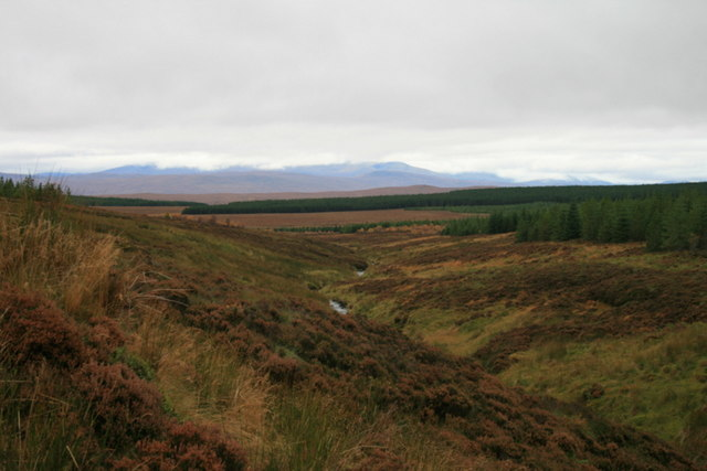 Allt Meall Meadhonach to the west