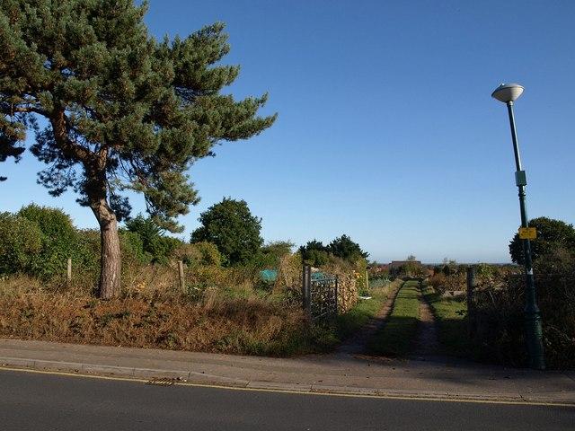 Entrance to allotments, Wallisdown