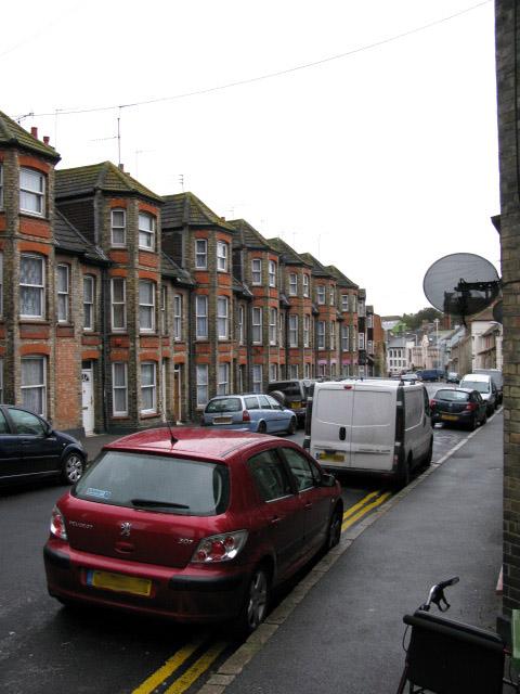 Houses on Bradstone Road, Folkestone