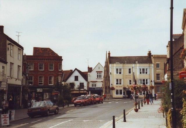 The market place at Glastonbury, Somerset