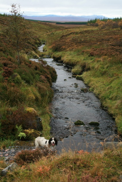 By the bridge over Meall Meadhonich