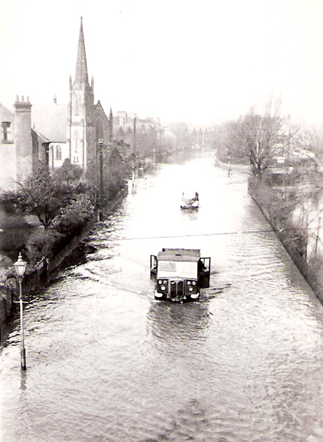 Melton Road in the floods of March 1947