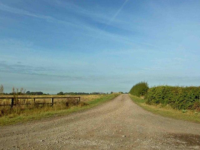Farm track to Hockerton Moor Farm