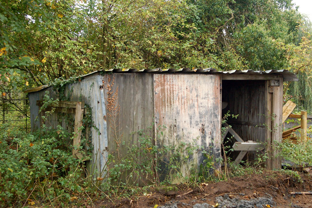 Shed behind the pond at Willoughby