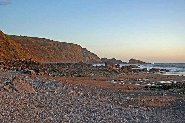 Evening at Welcombe Mouth