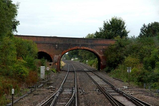High Street in Steventon crosses the main line
