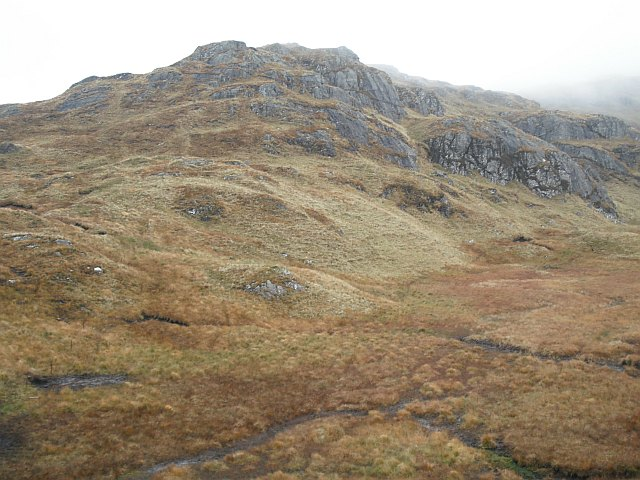 West ridge, Meall Mòr