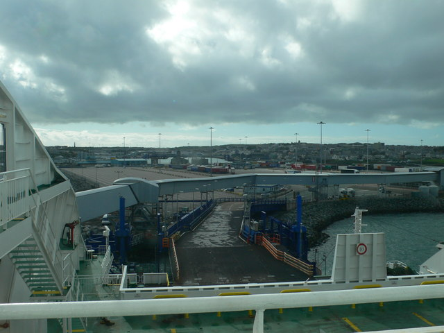 Loading bay at Holyhead harbour