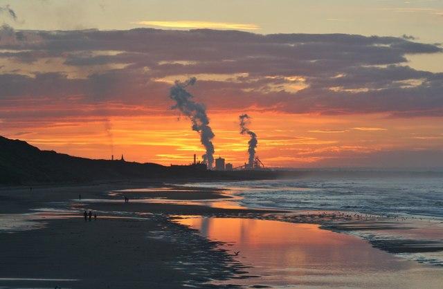 Sunset, Saltburn Beach