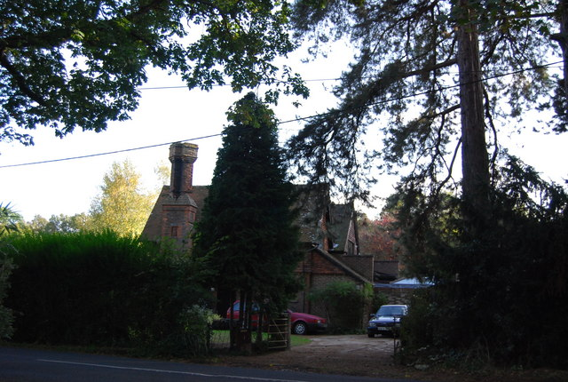Large house on the western edge of Leigh, B2027