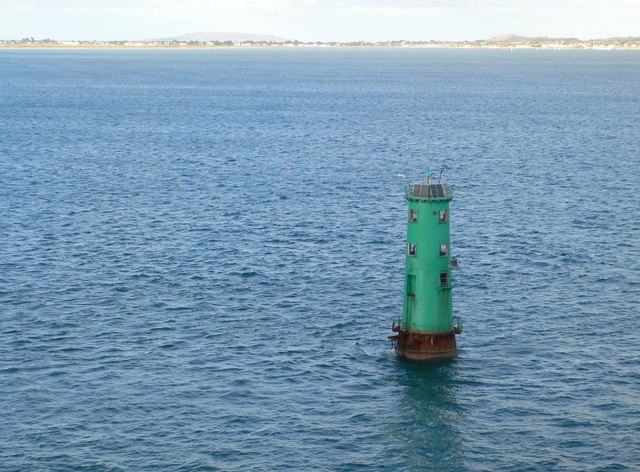 North Bull Lighthouse on the approach to Dublin Harbour