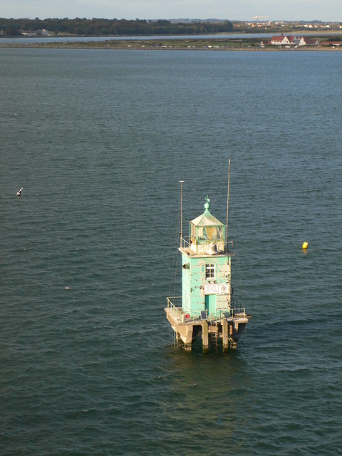 North Bank Lighthouse on the approach to Dublin Harbour