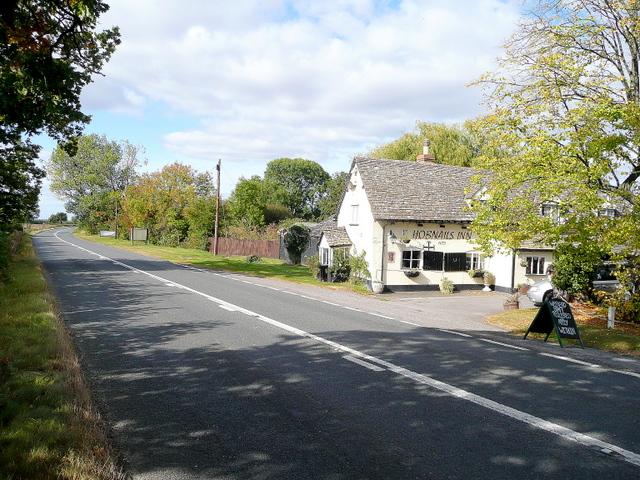 B4077 at the Hobnails Inn