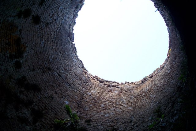 Tosson Lime Kiln from inside