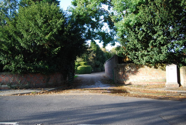The entrance to Hall Place, Leigh