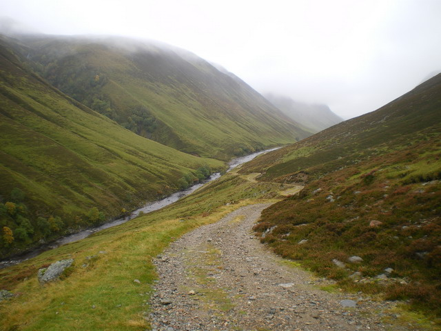 Track leaving Glen Tilt