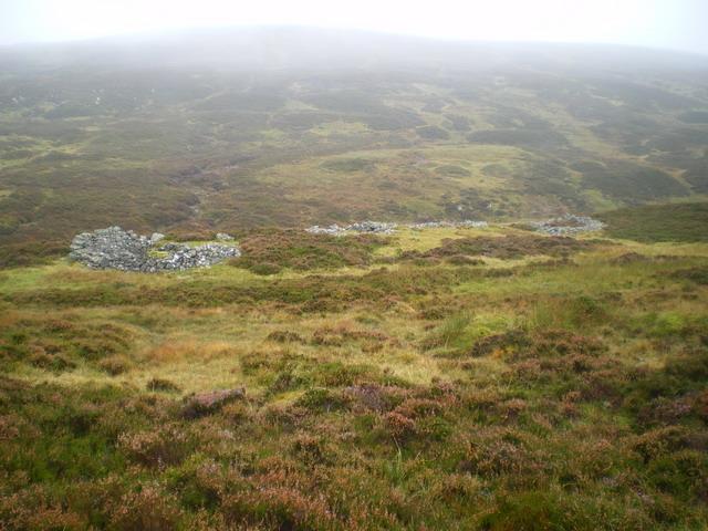 Shielings below Dùn Beag
