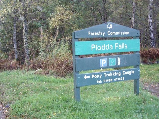 Plodda Falls car park