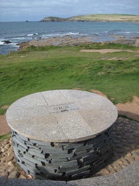 Memorial on Treyarnon Point