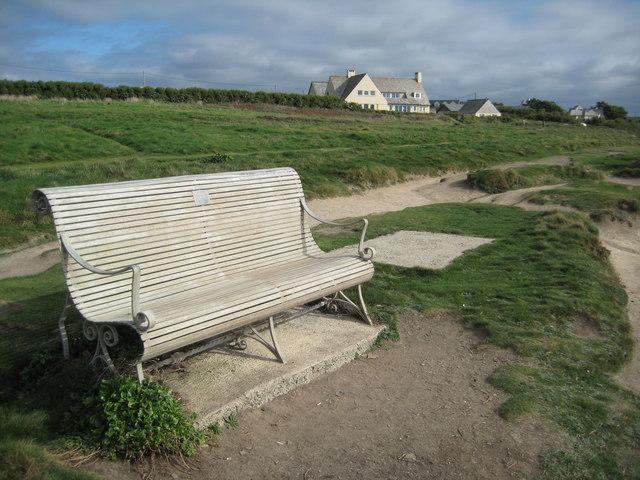 Seat overlooking Treyarnon Bay
