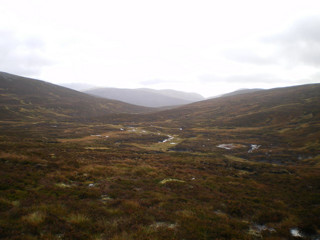 The upper part of the Glas Feith Mhòr