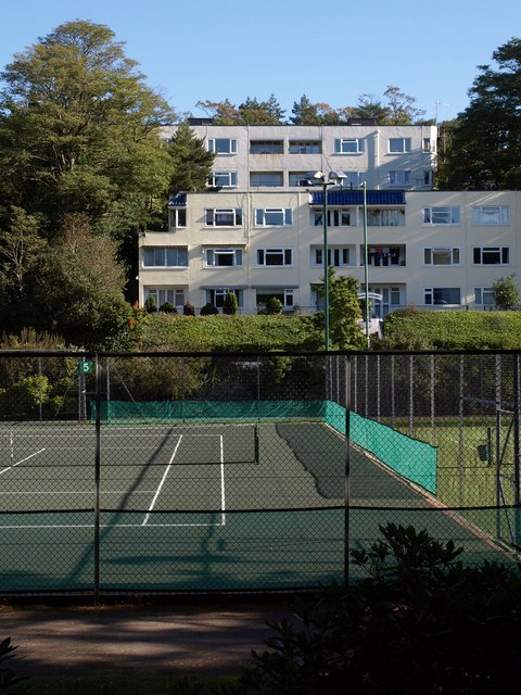 Flats and tennis courts, Bournemouth