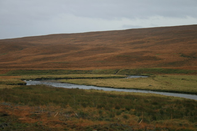 The Tirry in its mature stage  meanders along the glen