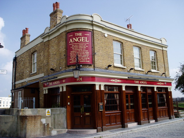 Angel pub. 101, Bermondsey Wall East, Rotherhithe, London, SE16