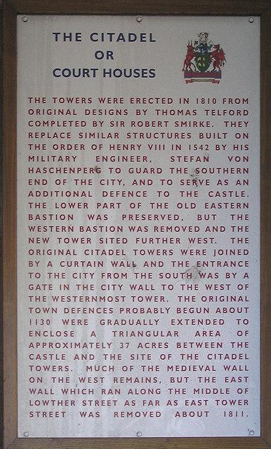 Notice, Carlisle Citadel