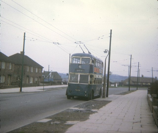 Bradford Trolleybus at Buttershaw Terminus