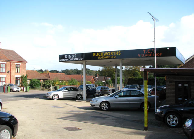 Closed petrol station in Beccles Road (A143)